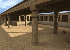 palácio do egípcio da ilustração 3D Foto de Stock