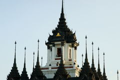 Palácio do ferro, Loha Prasat, Banguecoque, Tailândia. Fotos de Stock Royalty Free
