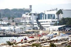 Palácio do festival de cinema de Cannes Imagens de Stock Royalty Free