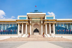 Palácio do governo em Ulaanbaatar Fotografia de Stock Royalty Free
