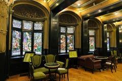 Palácio do interior da cultura, Targu Mures imagens de stock