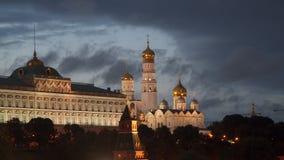 Palácio do Kremlin e catedral grandes do aviso em Moscou Foto de Stock