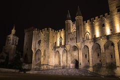 Palácio do papa de Avignon fotos de stock