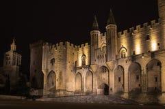 Palácio do papa de Avignon fotografia de stock