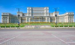 Palácio do parlamento, Bucareste Fotos de Stock