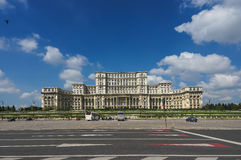 Palácio do parlamento de Bucareste Fotografia de Stock