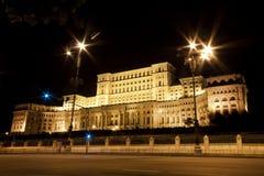 Palácio do parlamento em Bucareste, Romania. Imagem de Stock