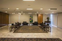 Palácio do Planalto - Brasília - DF - Brazil. Guest room - Palácio do Planalto (Planalto Palace) - The official workplace of the President of Brazil stock image