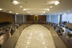 Palácio do Planalto - Brasília - DF - Brazil. Salão Oval (Oval Office) - Palácio do Planalto (Planalto Palace) - The official workplace of the royalty free stock images