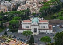 Palácio do regulador de Cidade Estado do Vaticano imagem de stock