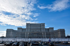 Palácio do ruído Romênia de Palatul Parlamentului do parlamento Fotografia de Stock
