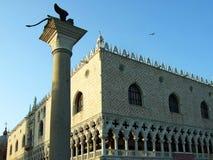 Palácio do ` s de Palazzo Ducale ou de doge em Veneza Itália imagem de stock