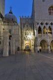 Palácio do ` s do doge na noite St Mark Square em Veneza, Itália Imagens de Stock