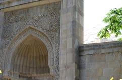 Palácio do Shirvanshahs na cidade velha de Baku, capital de Azerbaijão imagem de stock