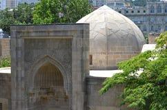 Palácio do Shirvanshahs na cidade velha de Baku, capital de Azerbaijão imagem de stock royalty free