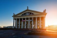 Palácio do sindicato da cultura em Minsk imagem de stock