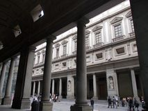 palácio do uffizi Fotos de Stock Royalty Free