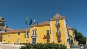 Palácio dos Arcos. Yellow painted building of Palácio dos Arcos hotel royalty free stock images