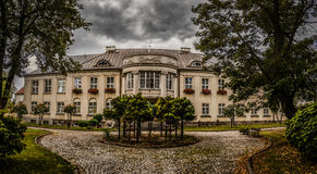 Palácio dos bispos em Lomza, Polônia foto de stock