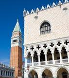 Palácio dos Doges em Veneza fotografia de stock