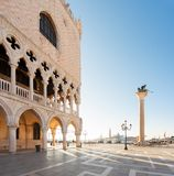 Palácio dos doges, Veneza, Itália fotos de stock