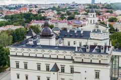 Palácio dos duques grandes de Lituânia em Vilnius, Lithuan fotografia de stock