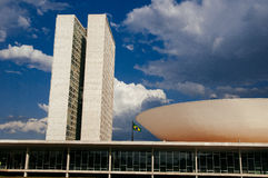 Palácio dos Poderes in Brasilia. Building by Oscar Niemeyer stock photo