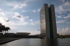 Palácio dos Poderes in Brasilia. Building by Oscar Niemeyer royalty free stock images