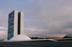 Congresso Nacional in Brasilia at Dawn - Brazil Royalty Free Stock Photo