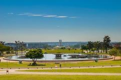 Palácio dos Poderes in Brasilia. From the Esplanada stock photo