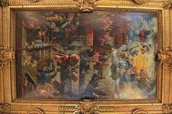Palácio dos rodeios em Veneza, pintura do teto Foto de Stock