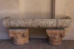 Palácio ducal do interior antigo do mármore 117705829 em Mantua imagens de stock royalty free