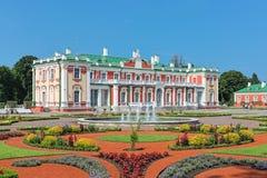 Palácio e jardim de Kadriorg em Tallinn, Estônia Fotos de Stock Royalty Free