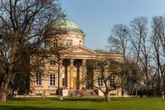 Palácio e parque de Varsóvia Królikarnia Imagem de Stock