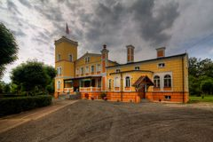Palácio em Debowa Leka (DÄbowa ÅÄka) Fotos de Stock