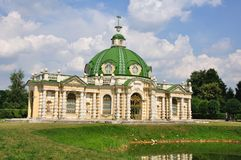 Palácio em Kuskovo. Foto de Stock Royalty Free