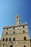 Palácio em Volterra Fotos de Stock Royalty Free