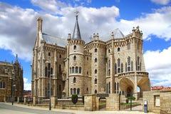Palácio episcopal, Astorga Foto de Stock Royalty Free