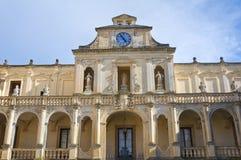 Palácio episcopal. Lecce. Puglia. Itália. fotografia de stock royalty free