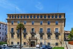 Palácio episcopal, Pamplona, Espanha foto de stock royalty free