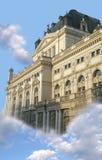 Palácio fantástico no céu Imagem de Stock