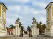 Palácio governamental de Rundale em Letónia, Europa fotografia de stock