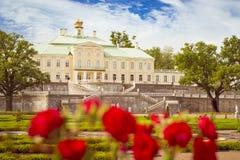 Palácio grande de Menshikov em Oranienbaum Fotos de Stock