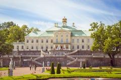 Palácio grande de Menshikov em Oranienbaum Imagens de Stock
