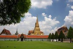 Palácio grande do kaeo do phra de Wat em Banguecoque Tailândia Foto de Stock