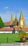 Palácio grande e Wat Phra Kaew, Banguecoque, Thailan Fotos de Stock