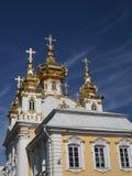 Palácio grande em Petergof Foto de Stock Royalty Free