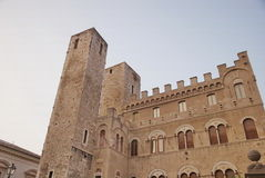 Palácio histórico em Ascoli Piceno, Italy Foto de Stock