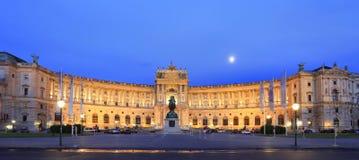 Palácio imperial de Hofburg na noite em Viena Imagem de Stock Royalty Free