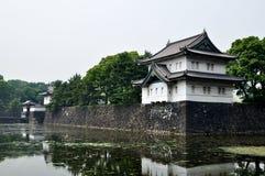 Palácio imperial do Tóquio e seu fosso, Japão Imagem de Stock Royalty Free